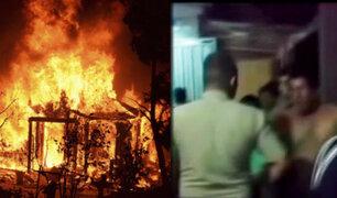 Tarapoto: mujer incendia vivienda de la amante de su esposo