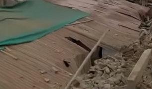 SMP: desagüe de Sedapal habría ocasionado derrumbe en vivienda