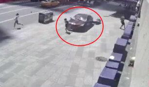 EEUU: difunden impactantes imágenes del atropello múltiple en Times Square
