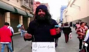Conozca la realidad de ser un mendigo por las calles de Lima