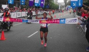 Maratón Lima 42k: Inés Melchor se impuso en la prueba de 10k