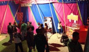 A pocas horas de la función desvalijan conocido circo en Chiclayo