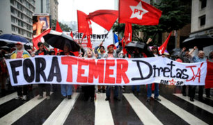 Brasil: manifestantes salen a las calles para pedir la salida de Temer