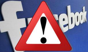Facebook: Usuarios reportan caída mundial de la red