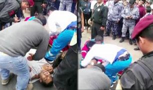 Policía resultó herido tras un  intento de asalto en Independencia