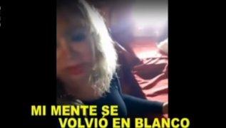 Susy Díaz protagoniza bochornoso video en estado de ebriedad