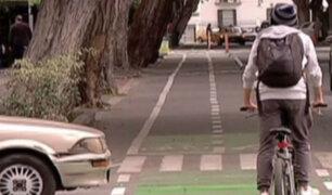 Conductores no respetan a ciclistas en todo Lima