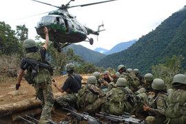 Ejército busca intensamente a soldado que huyó con armamento moderno del VRAEM