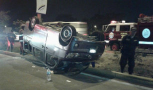 Minivan se despista y deja 10 heridos en autopista Ramiro Prialé