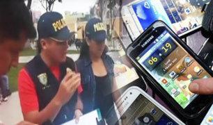 Continúan operativos contra la venta de celulares robados al interior del país