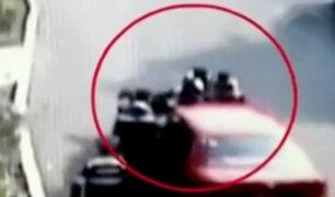 México: conductora atropella a policías para evitar infracción