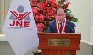 Presidente del JNE pidió a partidos respetar compromisos del pacto ético