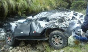 Áncash: tres muertos deja despiste y caída de vehículo a abismo