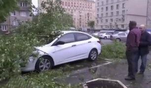 Fuerte temporal continúa azotando Rusia