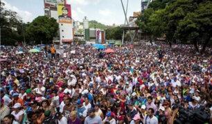 Venezuela: multitud marcha en defensa de los derechos humanos