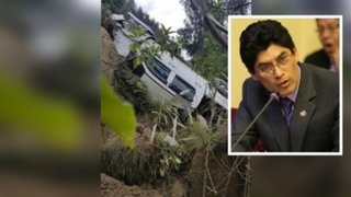 Carro en el que viajaba congresista Rogelio Tucto se volcó en Huánuco