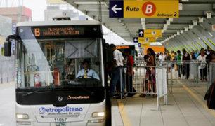 Metropolitano: buses interrumpirán servicio por Simulacro Nacional de Sismo