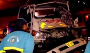 Puente Piedra: policía detiene a chofer que intentó fugar tras ocasionar accidente