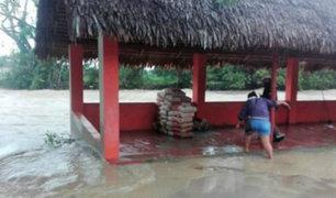 San Martín: pobladores se vieron afectados por crecida de río Cumbaza