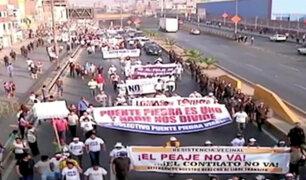 Así fueron las protestas en rechazo a la instalación del peaje Chillón a inicios de año