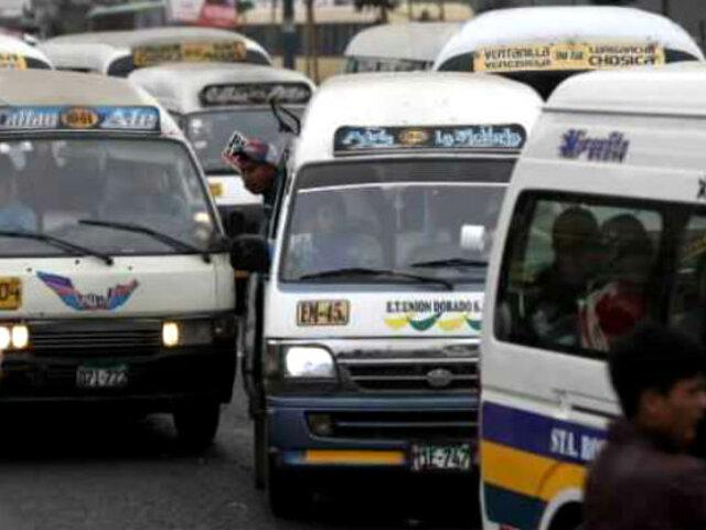 ATU retirará colectivos y motos que hacen taxi de corredores viales