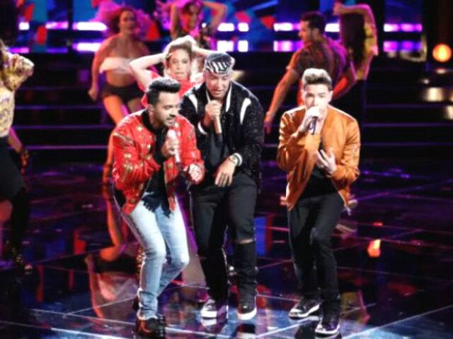 Luis Fonsi y Daddy Yankee causan furor en la final de 'The Voice'