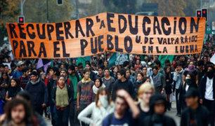 Chile: violentas protestas se registran en marcha de estudiantes