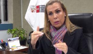 Fiscalía levanta secreto de las comunicaciones a ministra Fiorella Molinelli