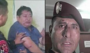 San Juan de Lurigancho: policía es acusado de agredir a colega durante intervención