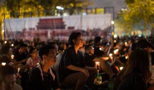 Hong Kong: se realiza vigilia para conmemorar represión de Tiananmen
