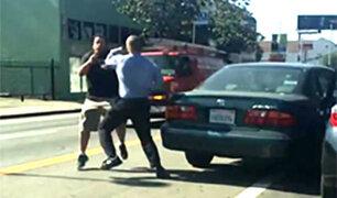 Cuando los choferes protagonizan violentos altercados en la vía pública