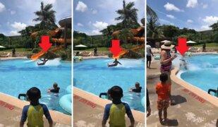 Mira la bajada de tobogán acuático que desafía las leyes de la física