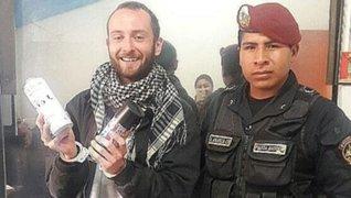Cusco: francés que realizó pintas en casonas coloniales se ríe durante detención