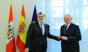 España: presidente Kuczynski y Mariano Rajoy destacan alto nivel de relaciones bilaterales