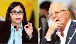 """Canciller venezolana pide a PPK """"sacar sus fúnebres manos de su país"""""""