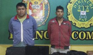 """Comas: PNP realiza captura de integrantes de la banda  """"Los Malditos de Zapallal"""""""