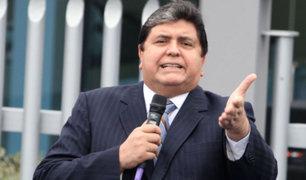 """Alan García: Bajo crecimiento económico es por """"falta de Gobierno"""""""