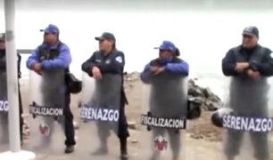 Barranco: serenos y fiscalizadores resguardan playa Los Yuyos tras paralización de obra