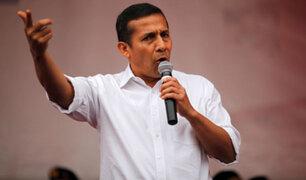 Humala: Gobierno no ha tenido agallas para replantear este escenario adverso