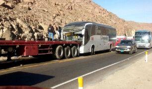 Arequipa: bus de la Gran Orquesta Internacional protagoniza cuádruple choque