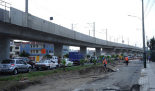 Surco: obra inconclusa en la avenida Tomás Marsano ocasiona  gran congestión vehicular