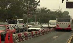 La Molina: conos en Javier Prado ocasionan gran congestión vehicular