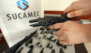 Mininter presenta resultado de operativo de armerías seguras