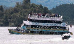 Siete muertos tras naufragio de embarcación en Colombia