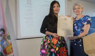 Magaly Solier fue declarada Artista de la Paz por la Unesco