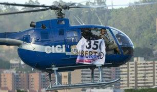 Venezuela: policías roban helicóptero y atacan el Tribunal Supremo