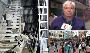 Gamarra: dirigente denuncia construcción informal de sótano para almacenar mercadería