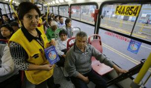 Municipalidad de Lima realiza campaña para respetar asiento reservado