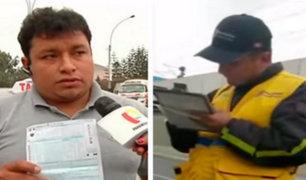 Surco: municipio respalda a fiscalizador que impuso papeleta a taxista
