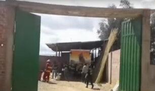 Trujillo: anciano muere en incendio de taller de pirotécnicos